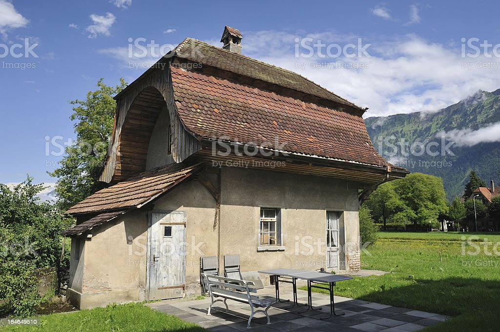 House in Interlaken royalty-free stock photo