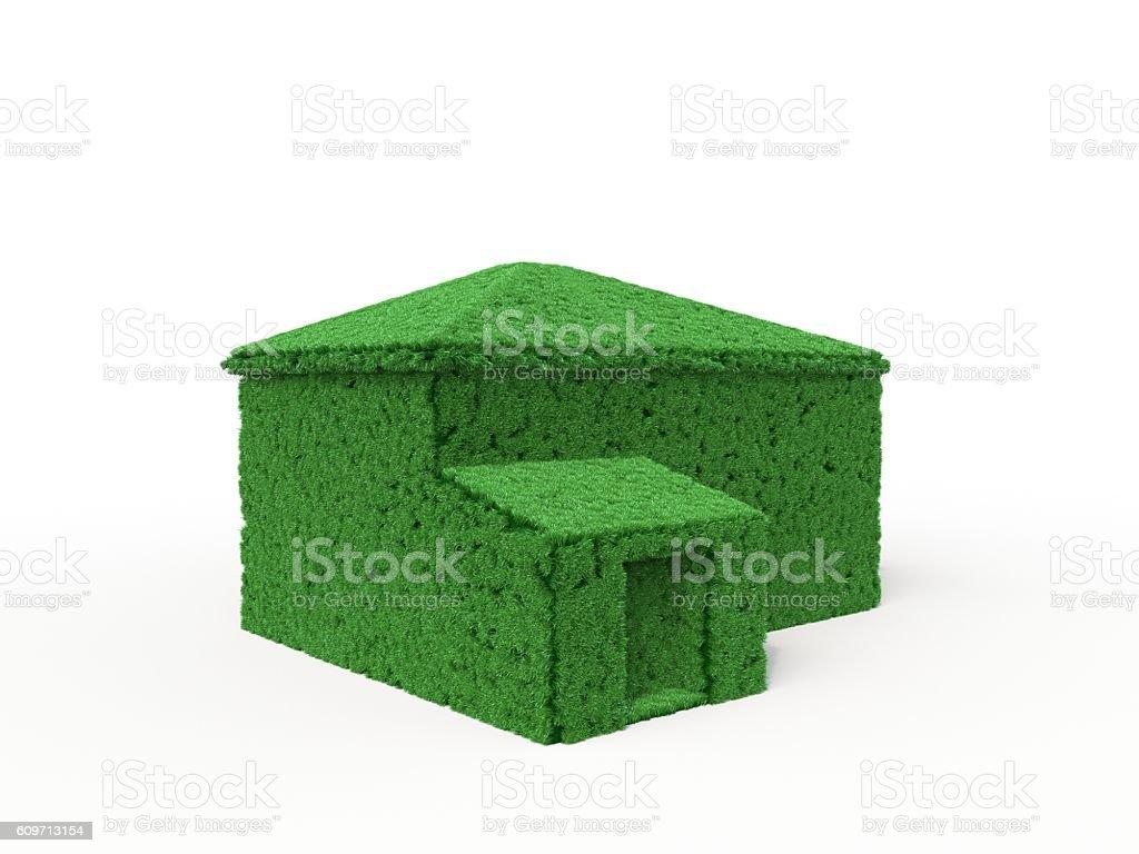 house in lawn optics stock photo