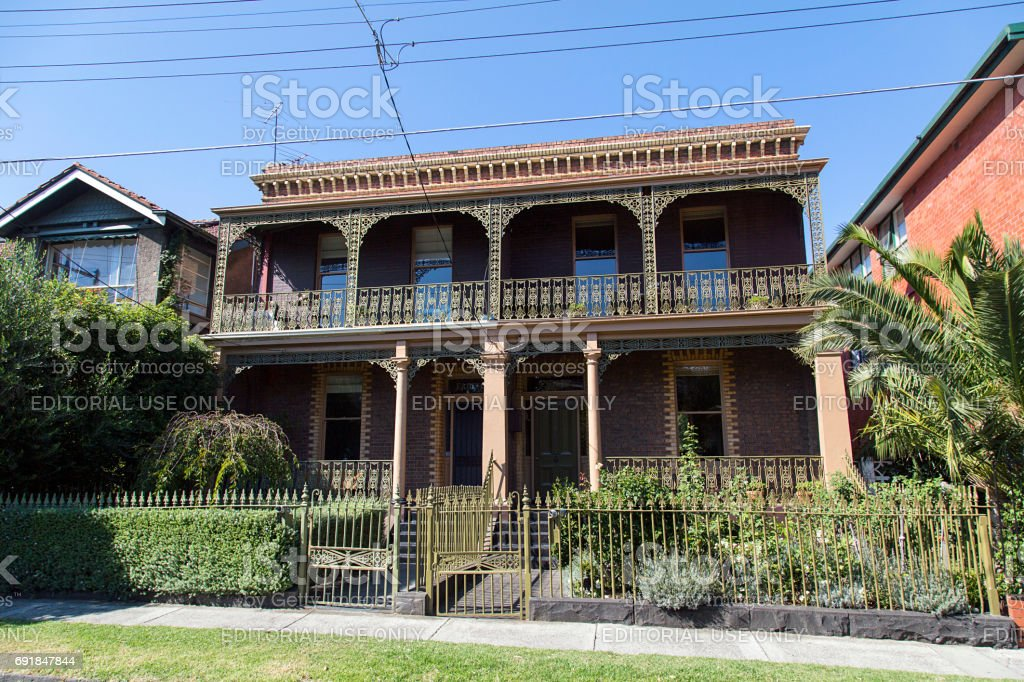 House in Melbourne stock photo