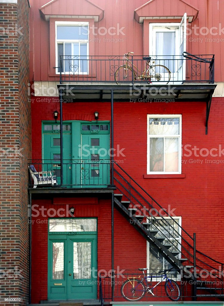 House in Montreal - Royalty-free 2004 Stock Photo