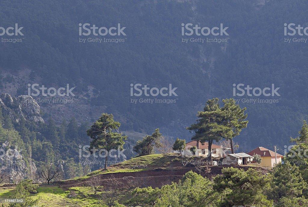 House in mountain range royalty-free stock photo