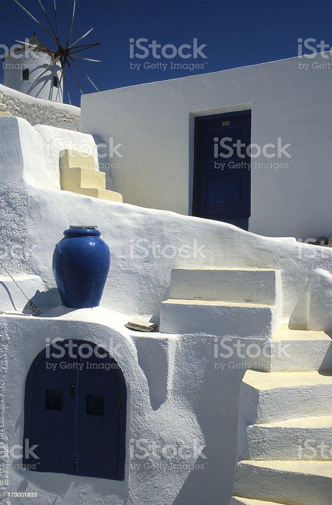 House in Oia village, Santorini Island, Greece royalty-free stock photo