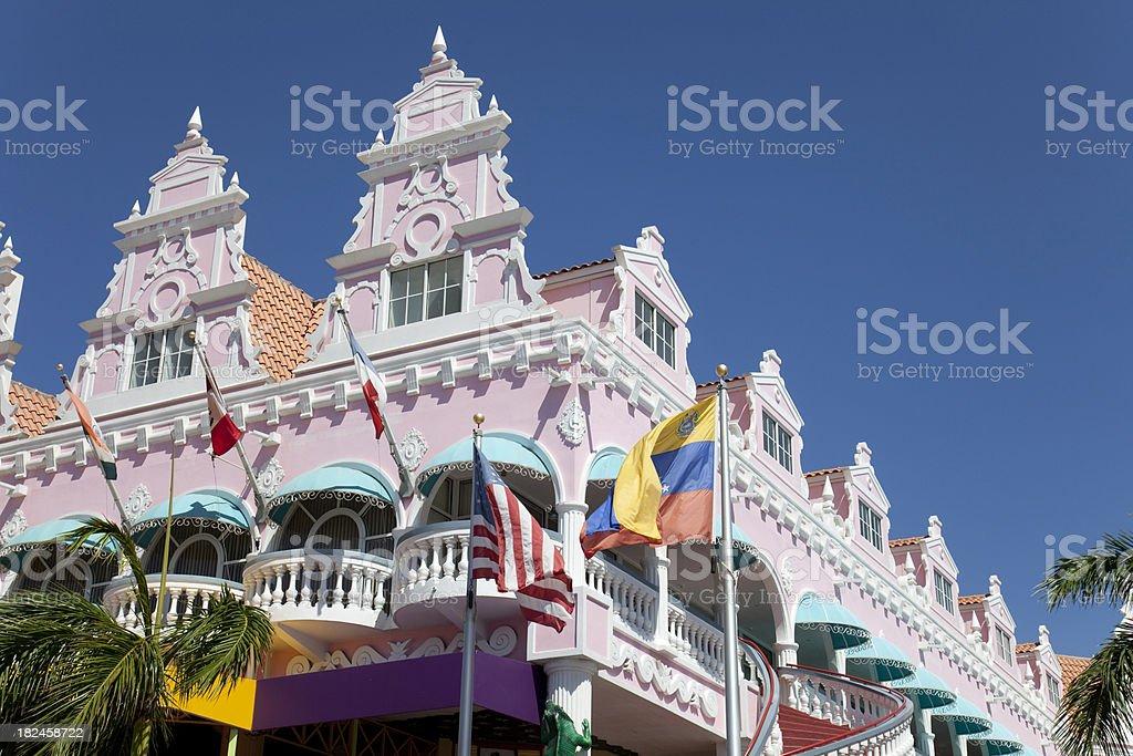 Casa em Oranjestad foto royalty-free