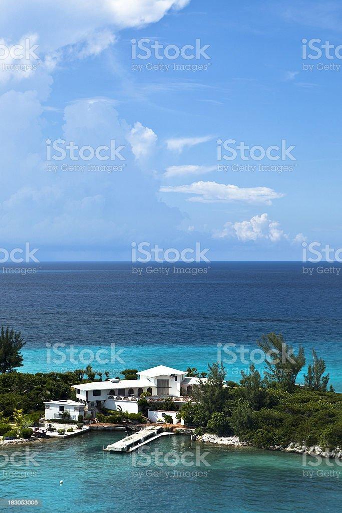 House In Paradise (Low Horizon) royalty-free stock photo