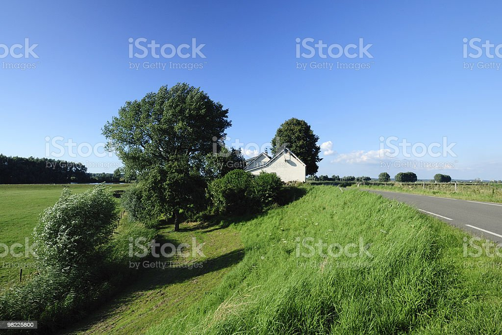House in rural landscape royalty-free stock photo