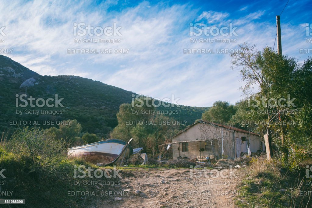 House in rural stock photo