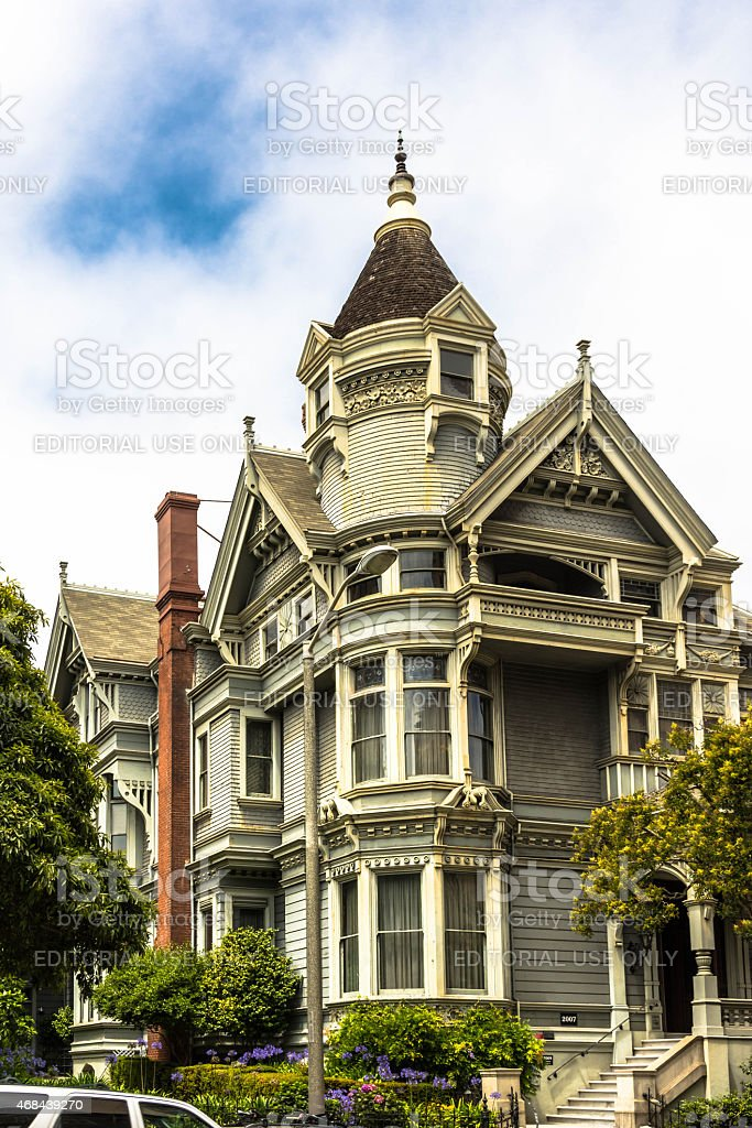 House in San Francisco, California stock photo