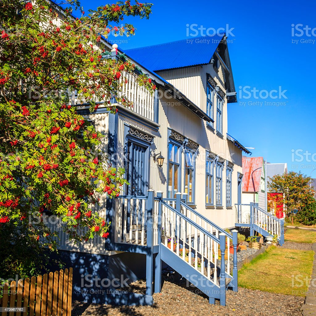 House in Seydisfjordur, Iceland stock photo