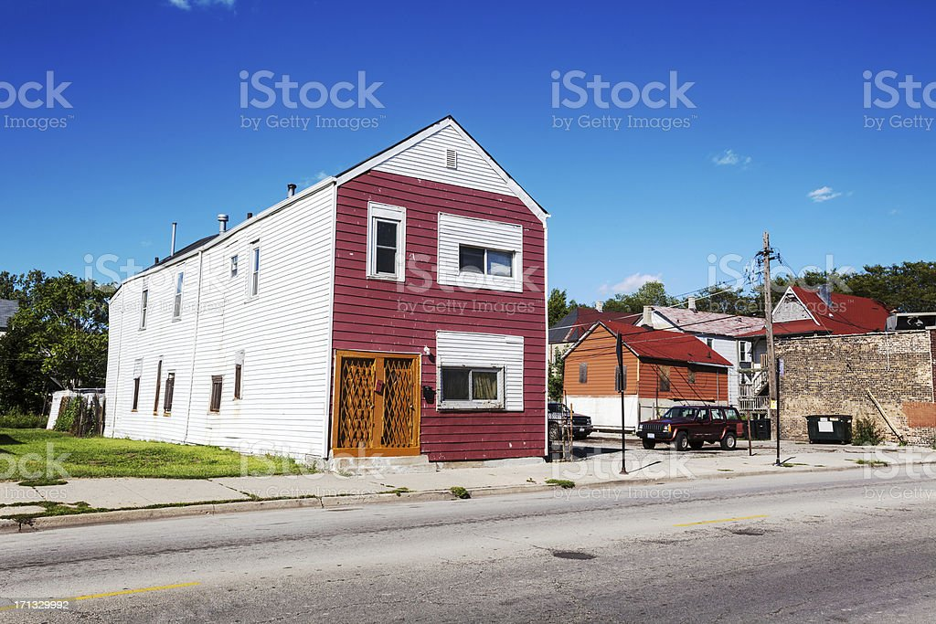 House in South Side Chicago royalty-free stock photo