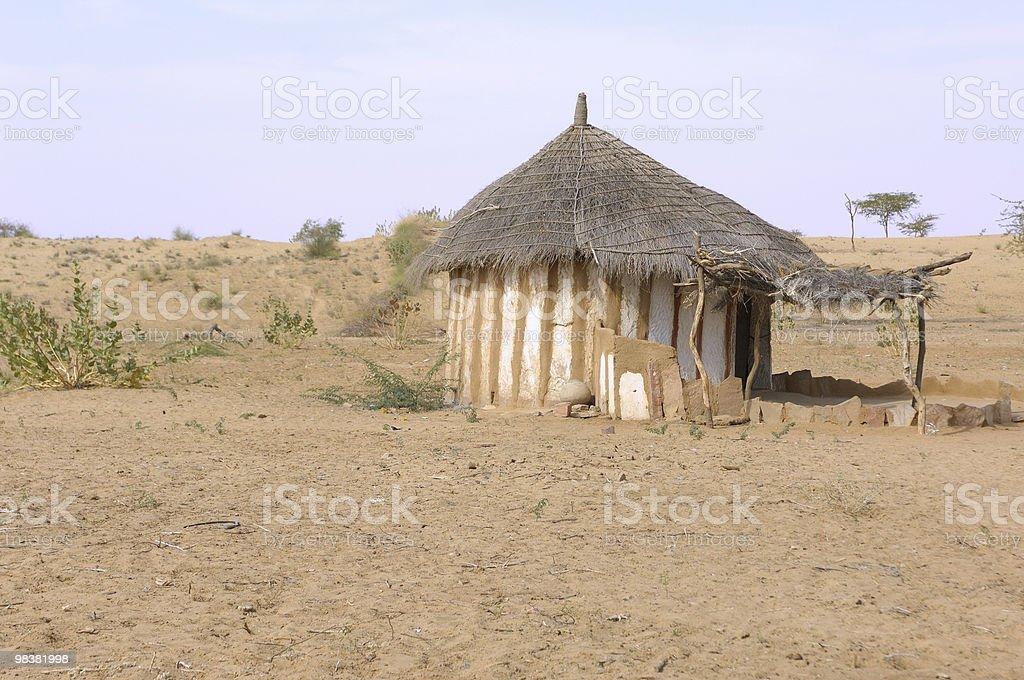House in Thar desert royalty-free stock photo
