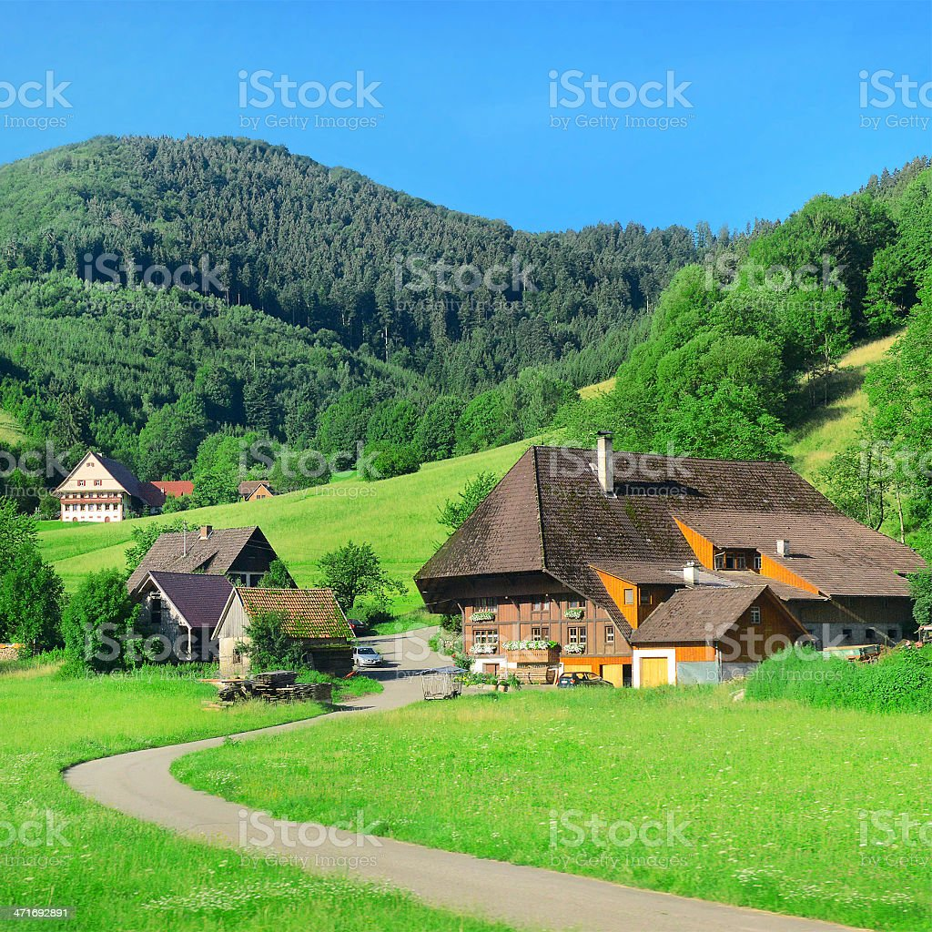 House in the a  mountains stock photo