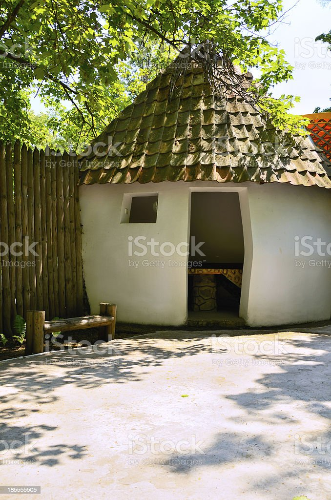 house in the ethnic style royalty-free stock photo