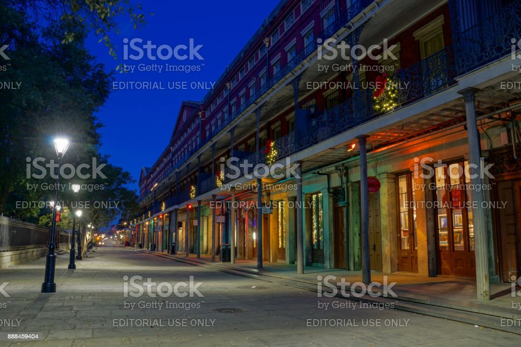 1850 House in the French Quarter of New Orleans, Louisiana stock photo