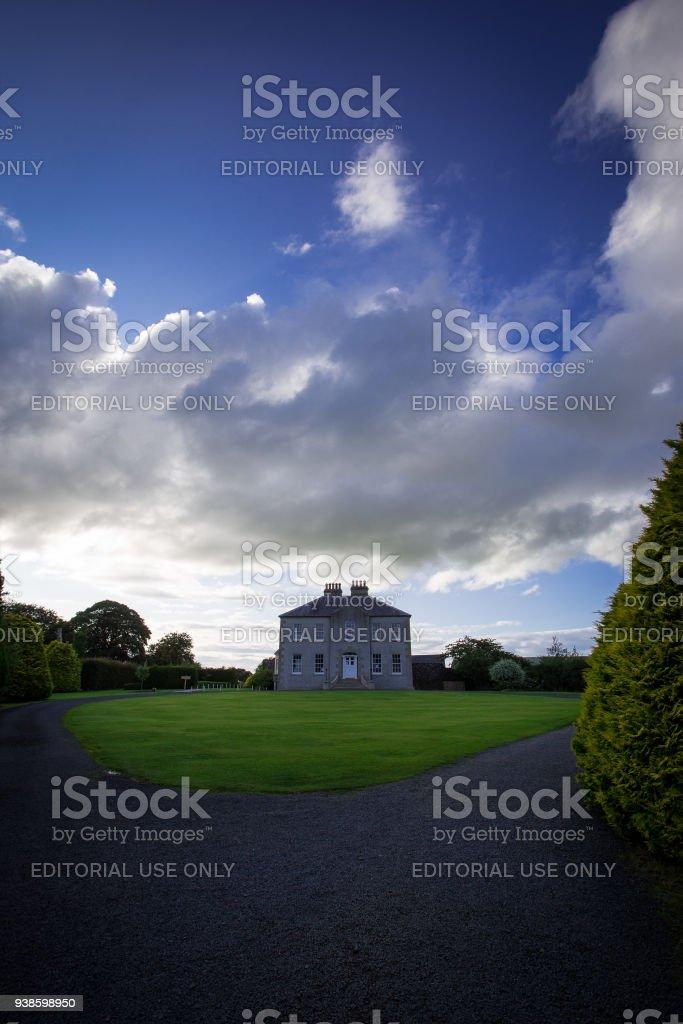 House in the garden stock photo