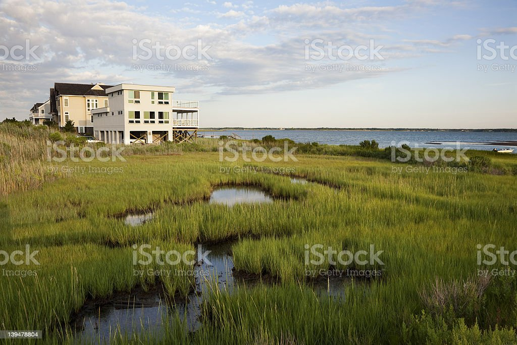 House in The Hamptons stock photo