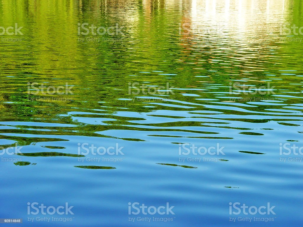 House in the lake royalty-free stock photo