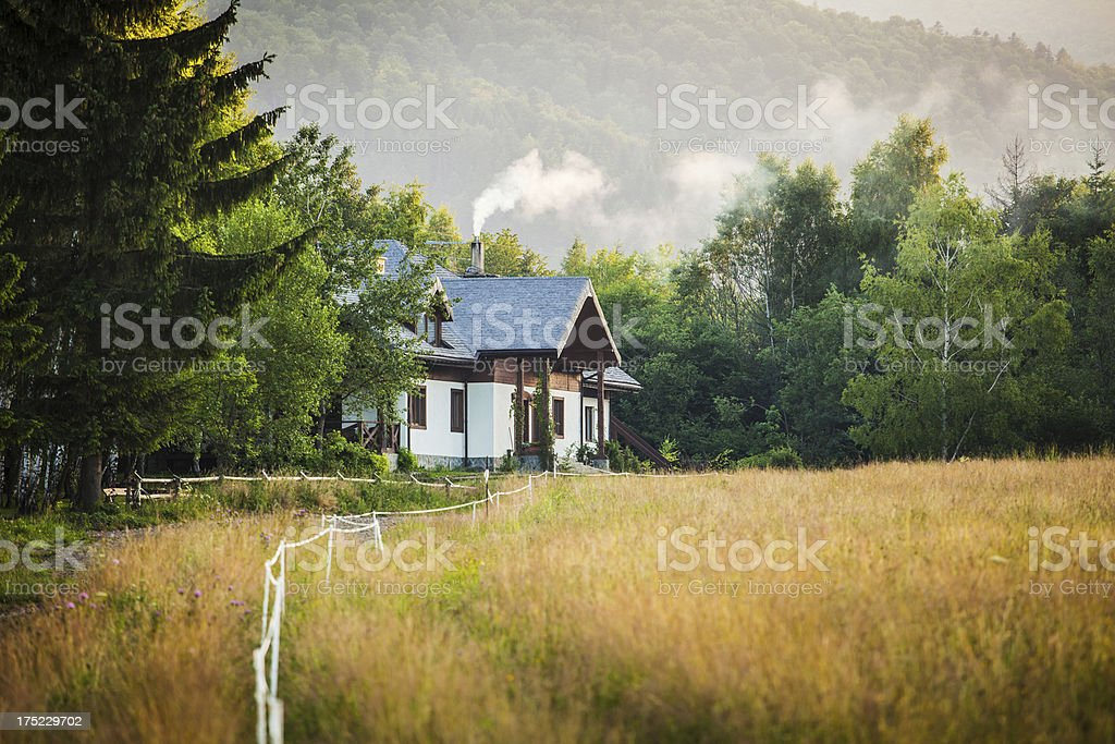 House in the mountain - Royalty-free Agriculture Stock Photo