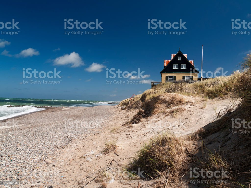 House in the old part of Skagen royalty-free stock photo