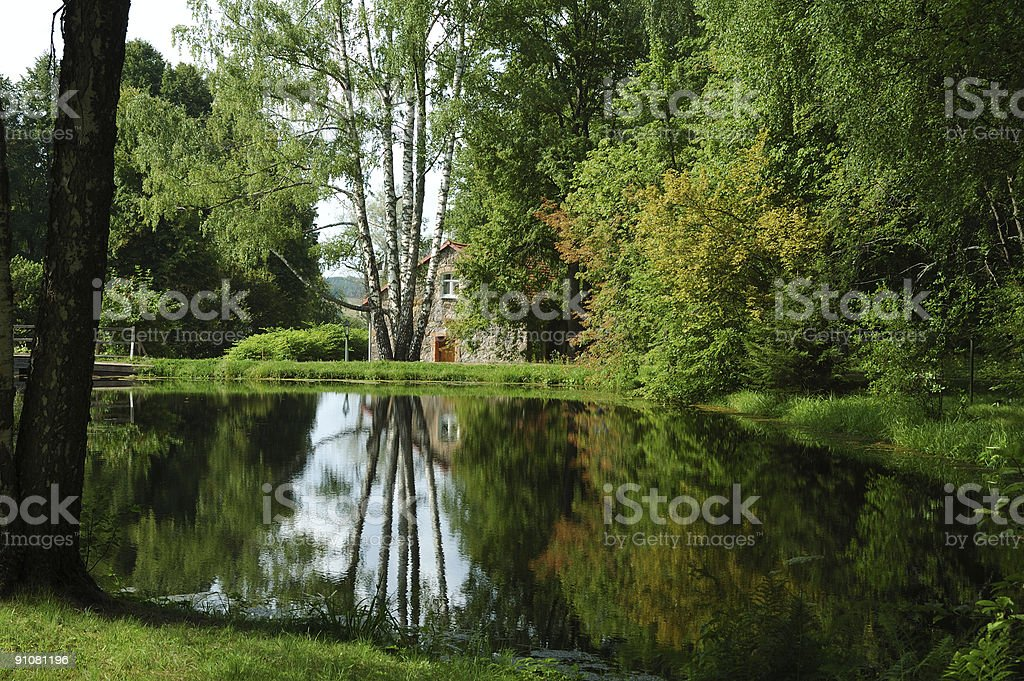 House in the park royalty-free stock photo