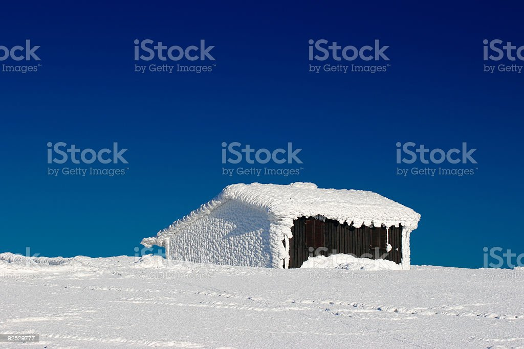 House in the Snow royalty-free stock photo
