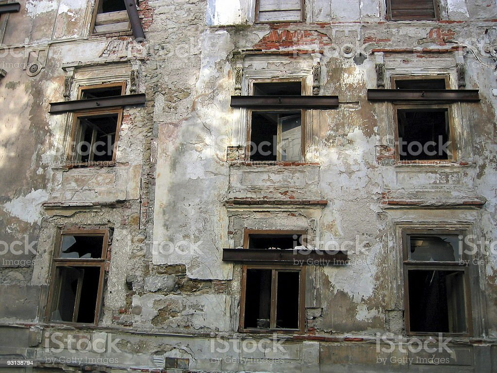 House in trouble royalty-free stock photo