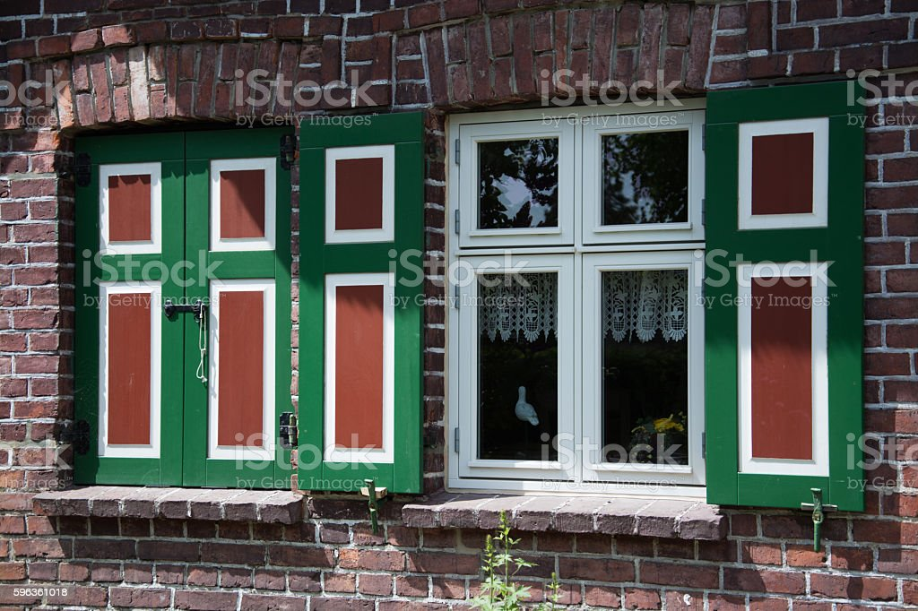House in Wustrow, Darss, Germany royalty-free stock photo