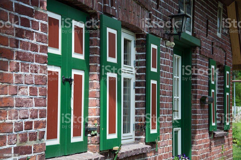 House in Wustrow, Darss, Germany royalty-free stock photo