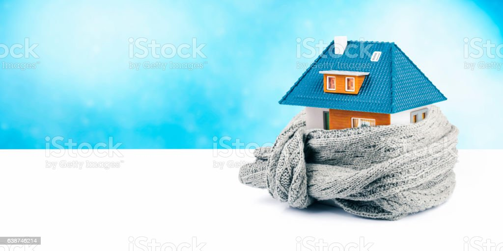 house insulation concept. copy space stock photo