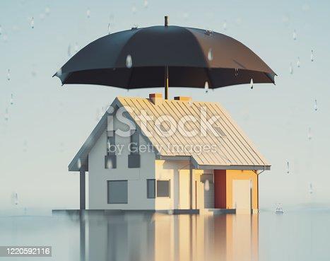 House insurance, 3d Render