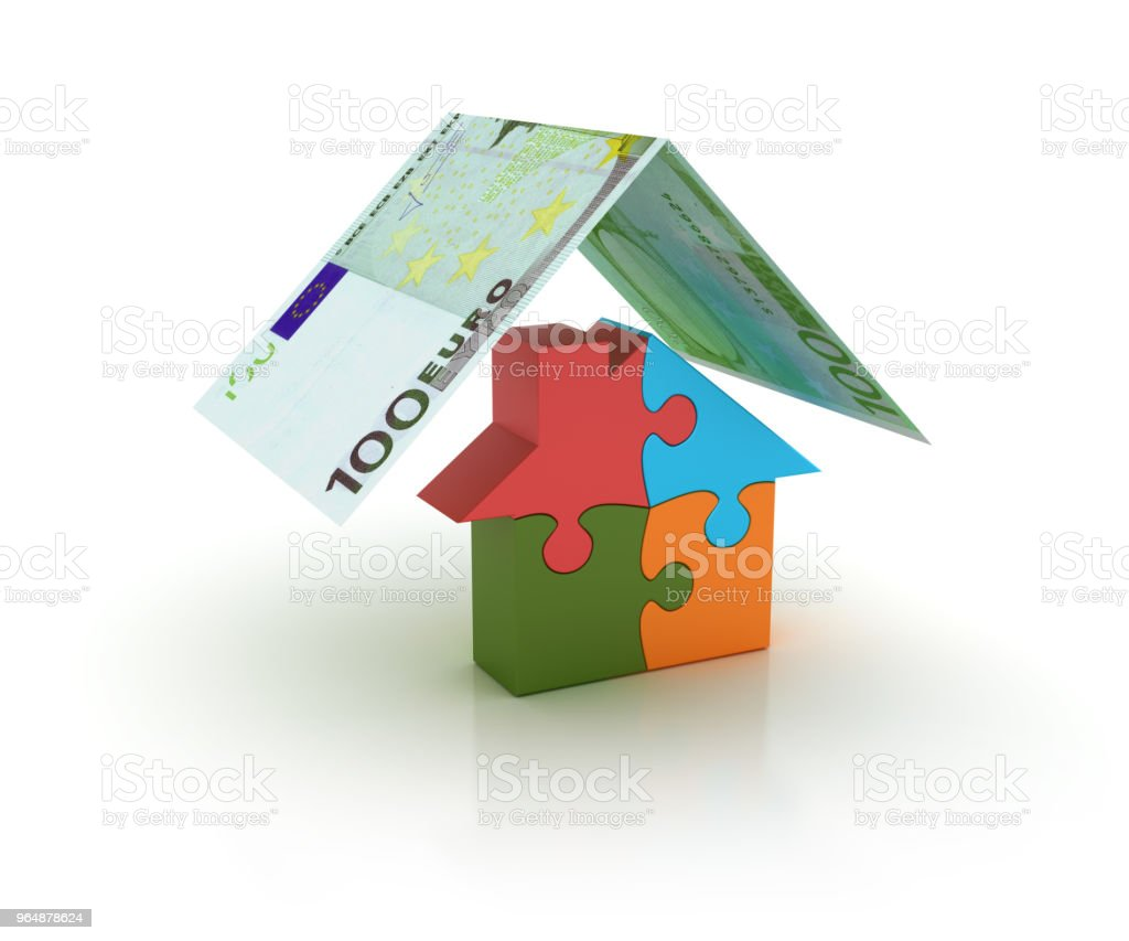 House Insurance - 3D Rendering royalty-free stock photo