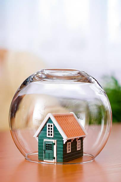 House insurance concept stock photo