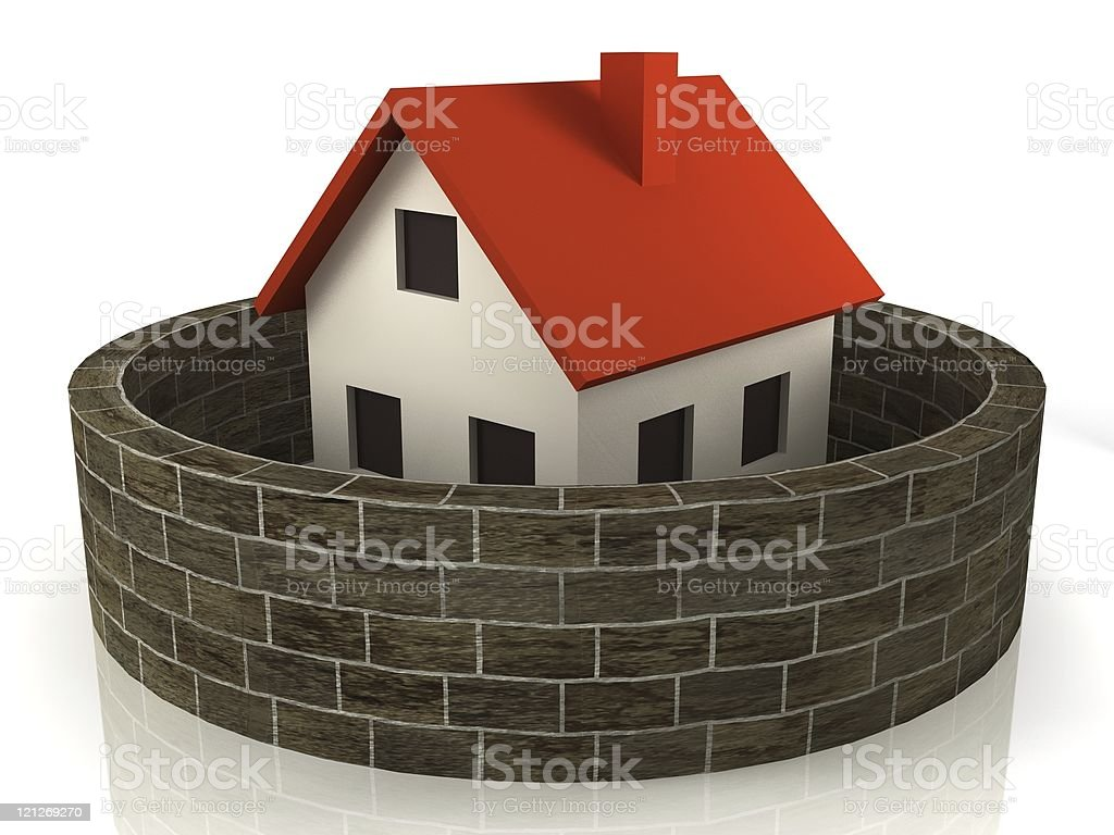 House Insurance royalty-free stock photo