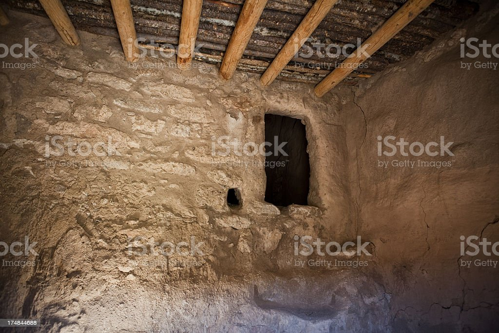 House Interior - Bandelier National Monument stock photo