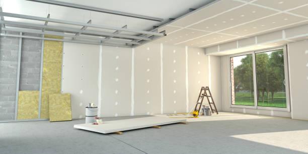 House interior construction stock photo