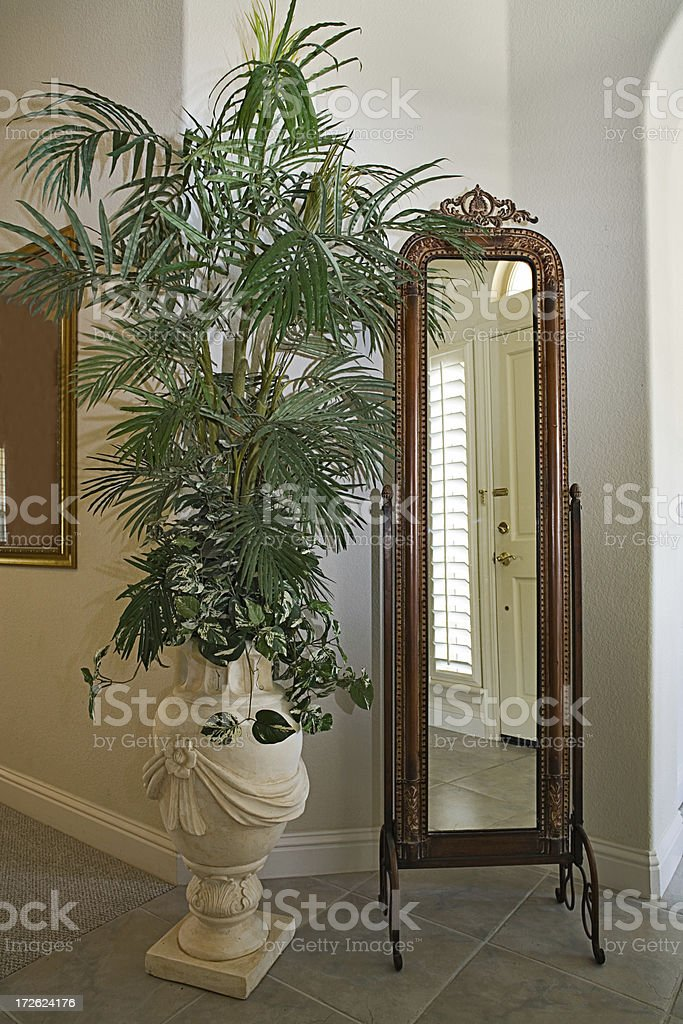 House Interior Entrance with Mirror royalty-free stock photo