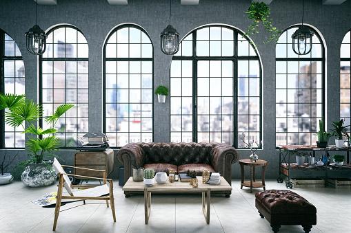 Loft house interior