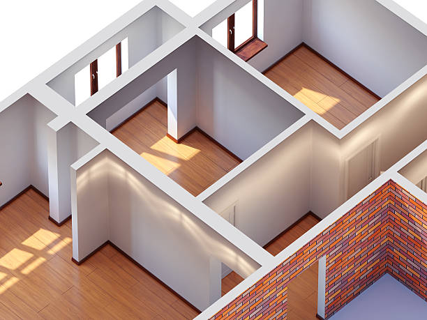 House interior planning stock photo