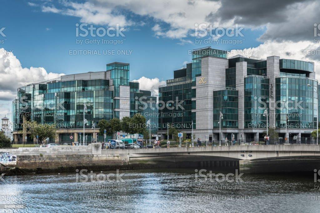 IFSC House, International Financial Service Center in Dublin, Ireland. stock photo