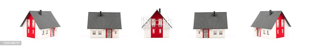 Toy House home isolated