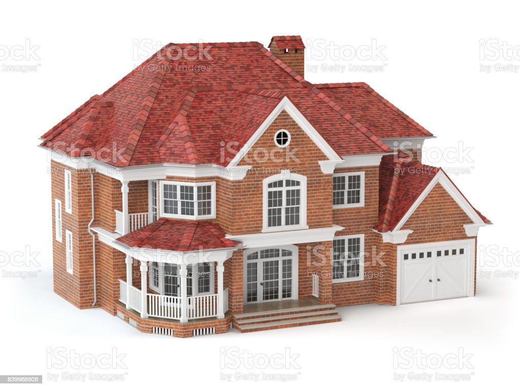 House Isolated On White Real Estate Concept 3d Stock Photo Download Image Now Istock