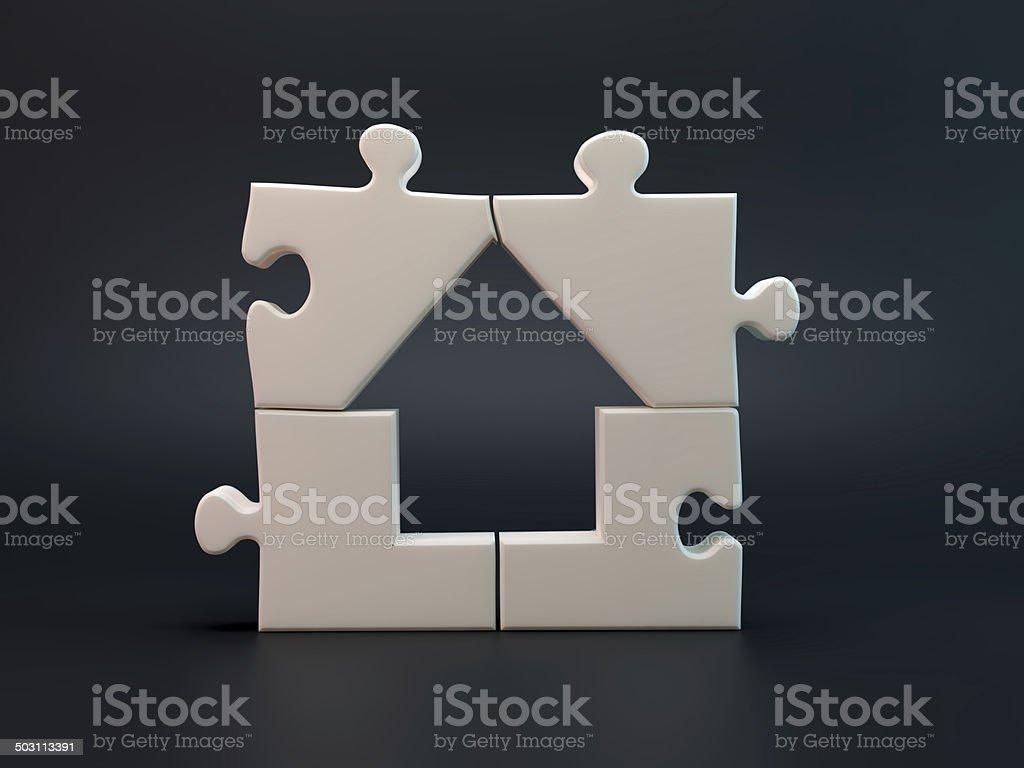 House jigsaw puzzle royalty-free stock photo