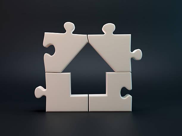 House jigsaw puzzle stock photo