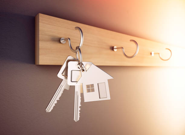 Llave de la casa - Concept Home - foto de stock