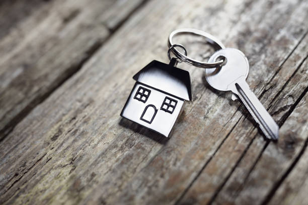 Hausschlüssel auf Schlüsselanhänger – Foto