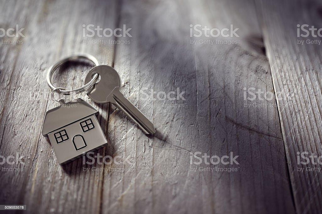 Haus Schlüssel am Schlüsselband – Foto