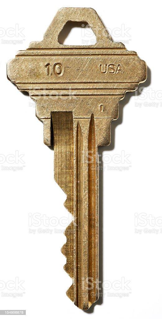 House key on white stock photo