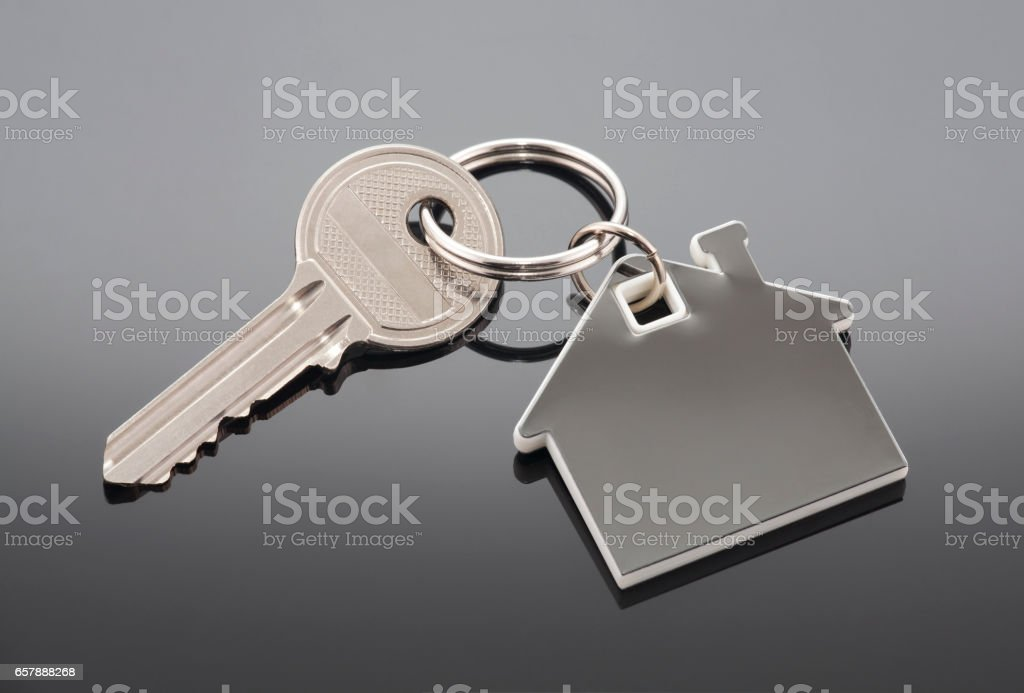 House key with clipping path stock photo