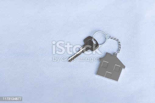 1135927471 istock photo House key with home keyring in on white background, real estate concept, copy space 1173134877