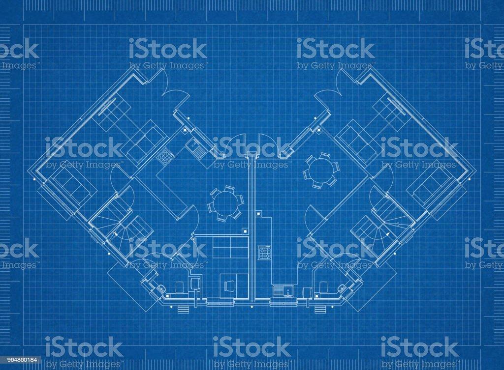 House layout design blueprint royalty-free stock photo