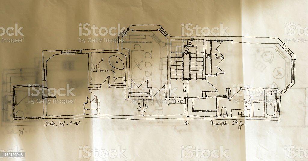 house layout royalty-free stock photo